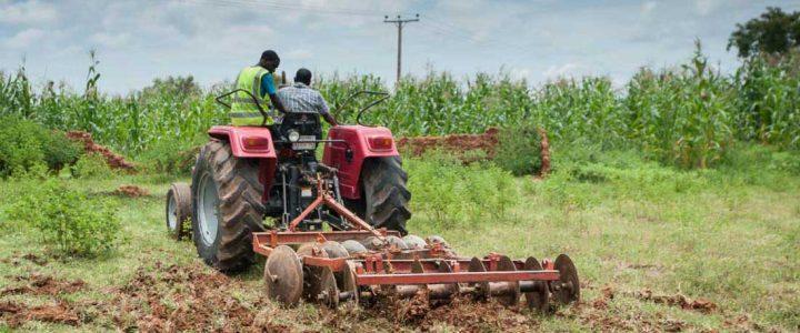 Massey Ferguson Tractors with farm implements
